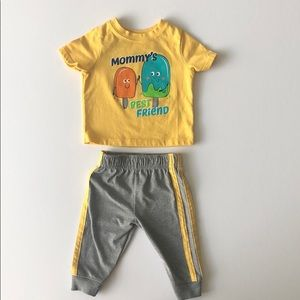 Baby graphic t-shirt and sweatpants outfit